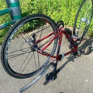 自転車がパンク!!!