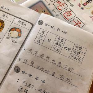 中国語の宿題に悪戦苦闘