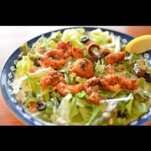 タコ唐とフレッシュトマトのサラダ(*^^*)