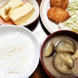 お惣菜とお味噌汁の貧乏メニュー