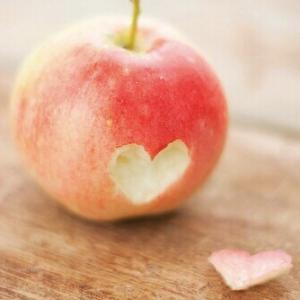 りんごの実験中
