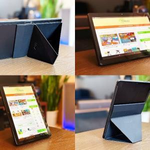 【MOFT Snap-On タブレットスタンド レビュー】Androidタブレット・iPadどちらでも6つのマルチアングルに角度調整できる薄くて軽くて丈夫なタブレットスタンド