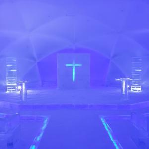 世界に一つだけの「氷の教会」がすごかった