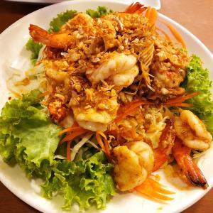 【バンコク】Soshanaで海老のガーリック炒めを食べてみた