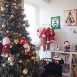 今年のクリスマスツリーとクリスマスの飾り付け