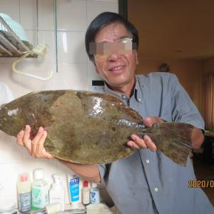 「相島浮波止」~64センチの大ヒラメが掛かった!