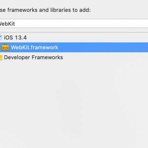 iOS 13.4でWKWebViewがクラッシュするときはWebKitへのリンクを追加