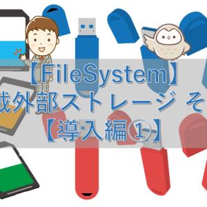 【FileSystem】車載外部ストレージ その1【導入編①】