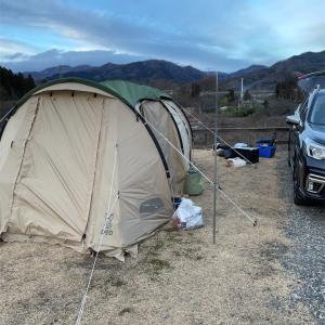 R40の親子冬キャンプ@川場オートキャンプ場