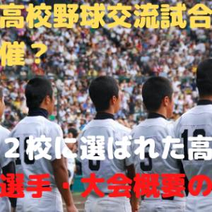 甲子園高校野球交流試合はいつ開催?出場32校に選ばれた高校・注目の選手・大会概要の紹介!
