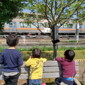 電車の駅までお散歩と、長さはかり隊!