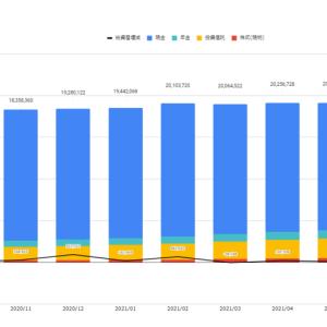 資産の状況(2021年8月末)  積立投資の含み益が100万円を突破