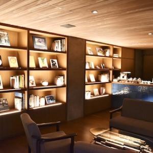 草津温泉 高級人気旅館「炯 -kei-」宿泊記録(2)ハイセンスな調度品のラウンジ コーヒーで寛ぐ優雅な時間