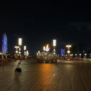 有明とお台場を結ぶ「夢の大橋」に設置された東京五輪聖火台を見てまいりました!