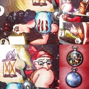 60'S★白雪姫と7人の小人★ポケットウォッチ★手巻き★懐中時計★アート★からくり時計オートマ