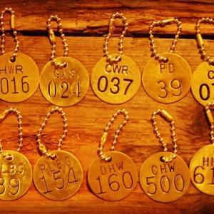 本日の出品★50'S★USA★ビンテージ★ブラスタグ★真鍮★キーホルダー★ナンバータグ★ナンバー
