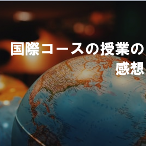 【本音】京大地球工国際コースの授業の感想を書きます