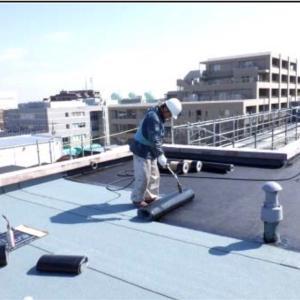 大規模修繕の屋上防水、廊下長尺撤去が始まった15週間目