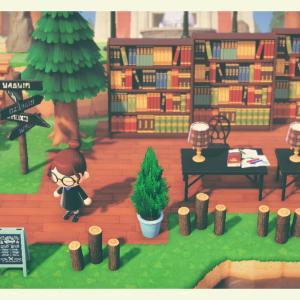 [あつ森:37]屋外図書スペースを作りました!