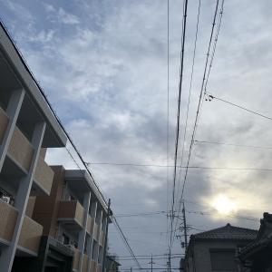 今日は寒い朝です