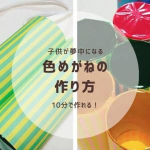 カラーセロファンとトイレットペーパー芯で作る【色めがね】の作り方