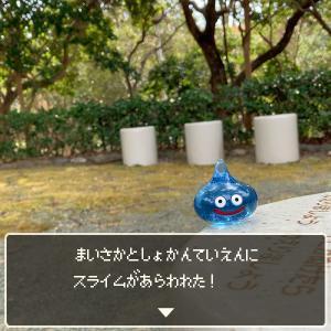 舞阪図書館庭園にスライムがあらわれた!