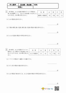 正の数・負の数(利用①)
