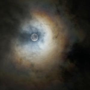 中秋の満月---深夜