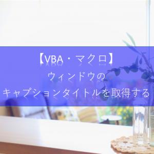 【ExcelVBA API操作】ウィンドウのキャプションタイトルを取得(GetWindowText)する方法を教えて!
