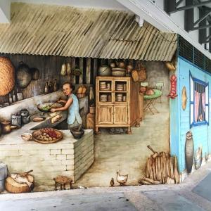 壁画アートと町の賑やかさに触れる@Ang Mo Kio
