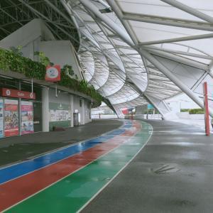ナショナルスタジアムの888mトラックがやっと開放されました。