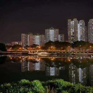 【美ジョ活】逆さまHBD群の夜景がキラッキラ@Pang Sua Pond