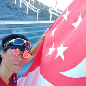 ランナーらしくシンガポールの56歳を祝う
