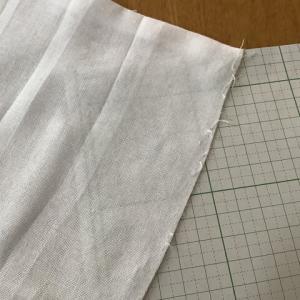【刺し子】5㎜方眼を布に正確に書きたい、方眼用紙を透かして書くのを試してみた