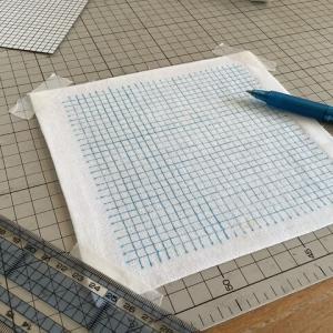 【刺し子】布に5㎜方眼を一番簡単に書く方法を見つけた