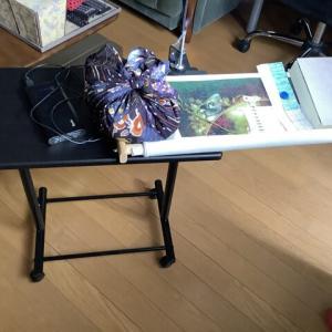 【刺繍台】昇降テーブルと柔らかい重石を使ってバージョンアップ