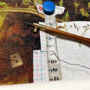 【クロスステッチ】針穴に入れられなくなった短い糸はかぎ針で引きずり出す