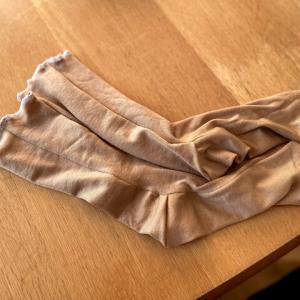 【ソーイング】ニット生地で靴下を作ってみた