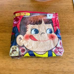 【ソーイング】お菓子袋でポーチ、両面テープだけで作るつもりが結局ミシン