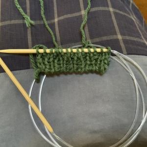 【棒編み】別糸から編む一目ゴム編みをマスターした