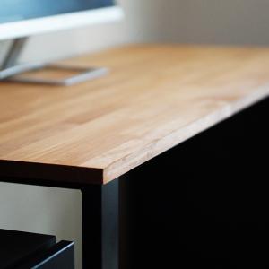 【安くてお洒落】木材&黒鉄脚のパソコンデスクを簡単DIYしてみた!