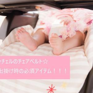 【育児】リッチェルのチェアベルト☆お出掛け時の必須アイテム!!!