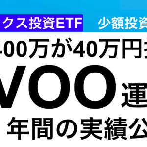 【運用実績】VOO 保有して1年の運用実績