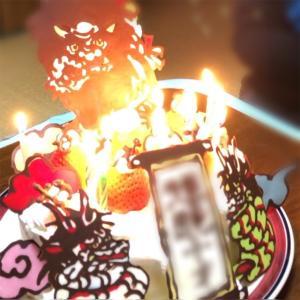 チョコペンで作るキャラデコのバースデーケーキ【10歳★神楽】
