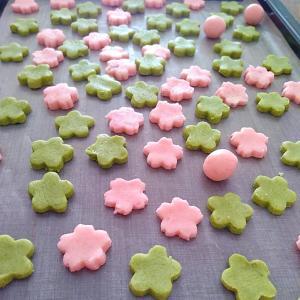 100均のクッキー型で 春のクッキー