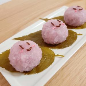 桜餅 市販のもので簡単カービィ