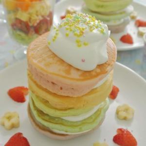 イースターパーティー ゆめかわレインボーパンケーキ