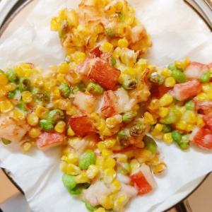 夏越ごはんの日 業務スーパーの冷凍枝豆&コーンで夏のかき揚げ