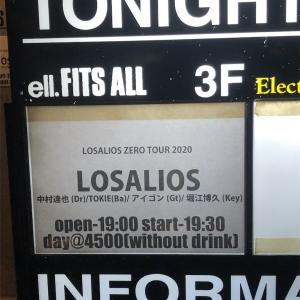 LOSALIOS ZERO TOUR2020 2020.2月21日(金)名古屋ell.FITS ALL 19:30 開演
