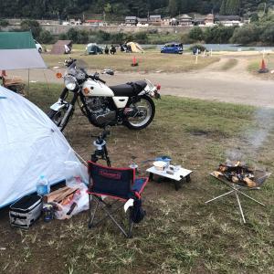 はじめてのツーリングソロキャンプです。